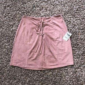 Charlotte Russe pink suede skirt (NWT)